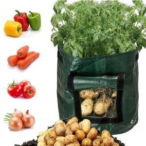 Reusable and Durable PE potato grow bag 10 Gallon