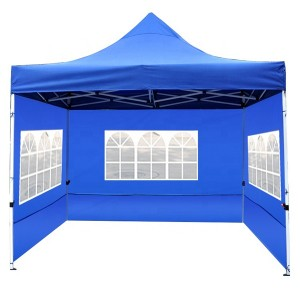 Outdoor Folding Tent with 3 Side Panels 10′x10′