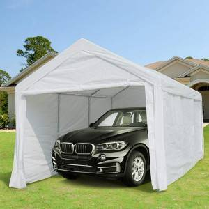 10 x 20 ft Heavy Duty Carport Canopy Car Garage Shelter with Removable Sidewalls and Doors