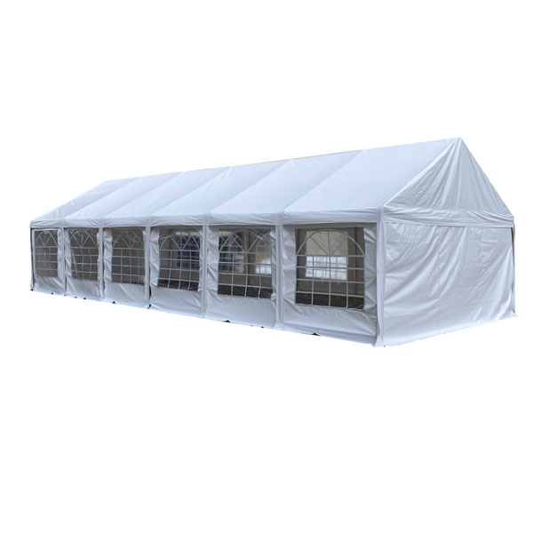 Heavy duty white 5x12m PVC wedding party tents with full set of sidewalls Featured Image