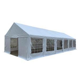 Heavy duty white 5x12m PVC wedding party tents with full set of sidewalls