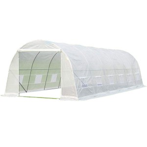 New Arrival China Greenhouse galvanized - White PE Plastic Tunnel Greenhouse 8x3x2m – WINSOM