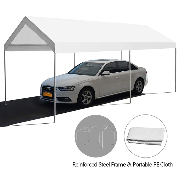 High Quality for Carport Garage - Portable Car Canopy With Waterproof 10′x20′ – WINSOM