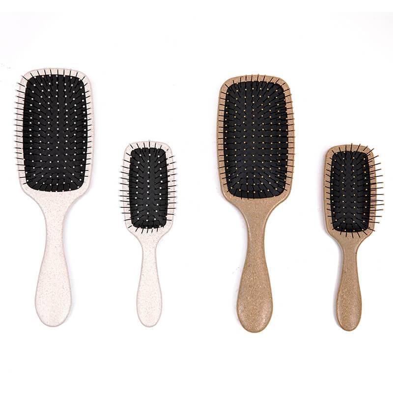 Professional China Flat Round Hair Brush - Rubber coating,UV electric, shinning printing,water transfer detangler hair brush with Intelliflex bristles – Yongsheng