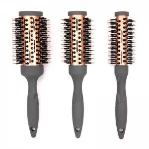 Professional round hair brush with high temperature resistance in different style