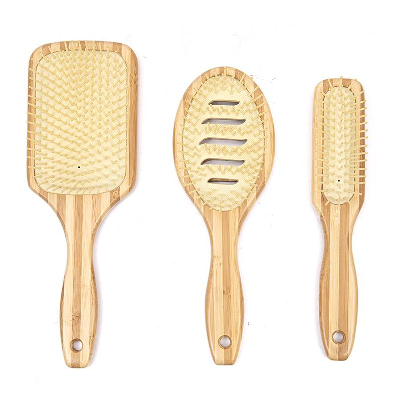 Big discounting Bamboo Bristles Hair Brush - Wooden and bamboo hair brush – Yongsheng detail pictures