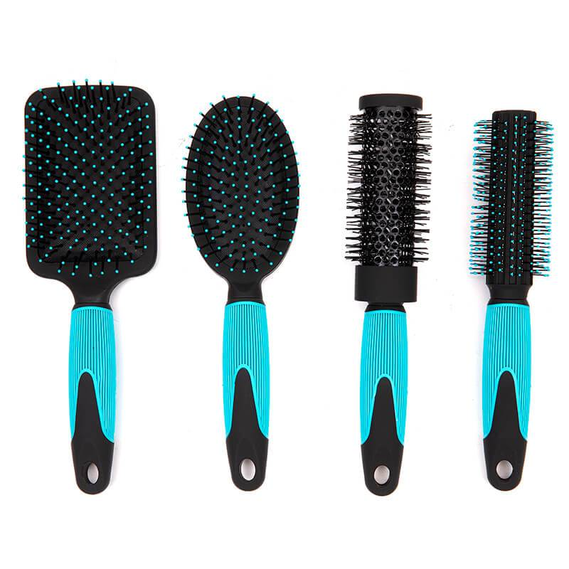 New Arrival China Boar Hair Brush - Rubber coating hair brush with colorful printing with design handle – Yongsheng