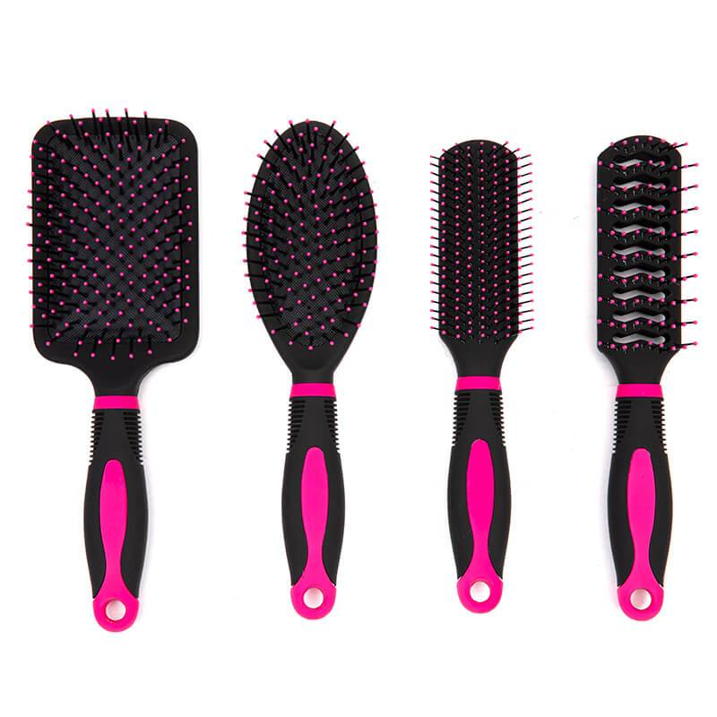 New Arrival China Boar Hair Brush - Rubber coating hair brush with colorful printing with design handle – Yongsheng Featured Image