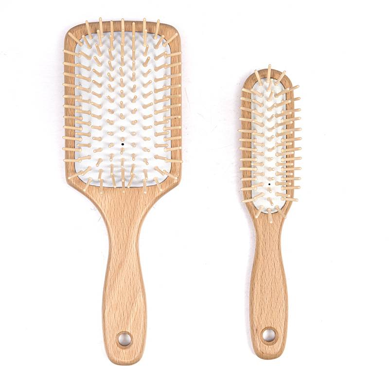 Big discounting Bamboo Bristles Hair Brush - Wooden and bamboo hair brush – Yongsheng