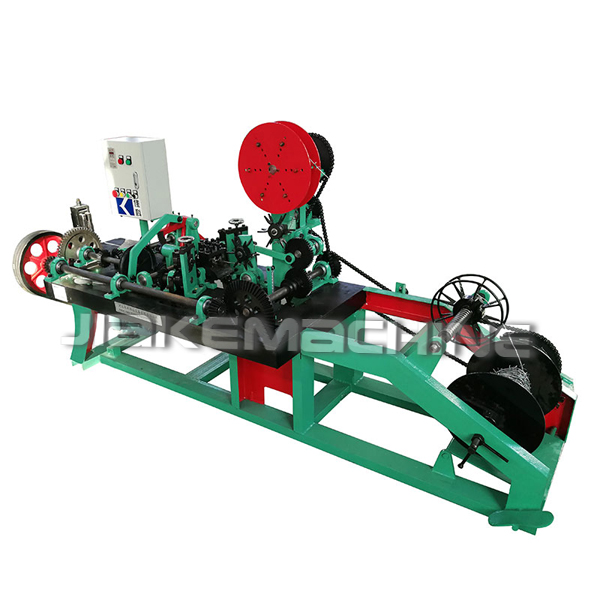 High speed automatic barbed wire netting machine