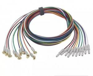 Universal EEG cable,Cup EEG electrode and cord E0001-B