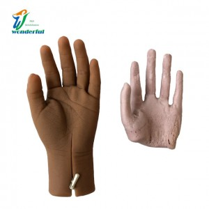 Children's silicone cosmetic glove with zip and be filled