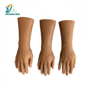 Prosthetic beauty silicone gloves with padding