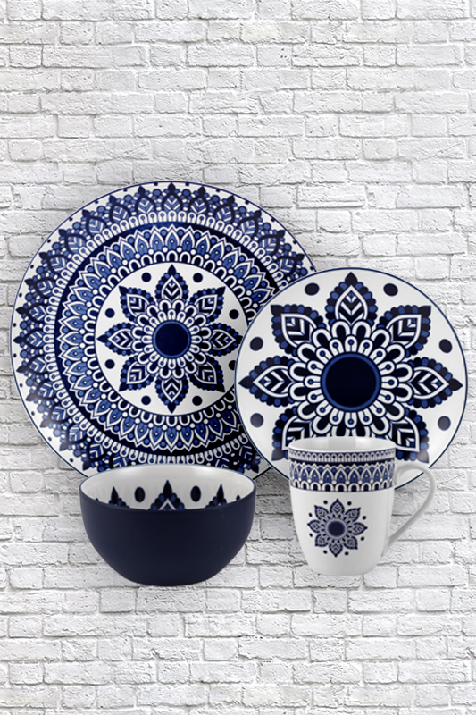 Symmetrical pattern pad printing ceramic tableware