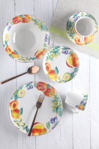 Orange fruit decal tableware