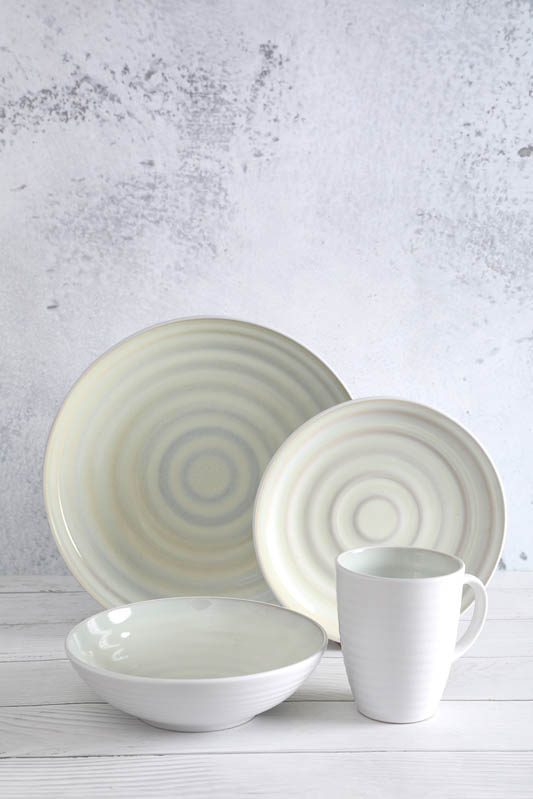 Reasonable price Bone China Bowl - 16 pieces Kiln change glaze dinnerware – WELLWARES