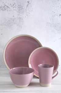 Discountable price Modern Bone China - Flamed Stoneware Dinner Set with reactive glaze – WELLWARES