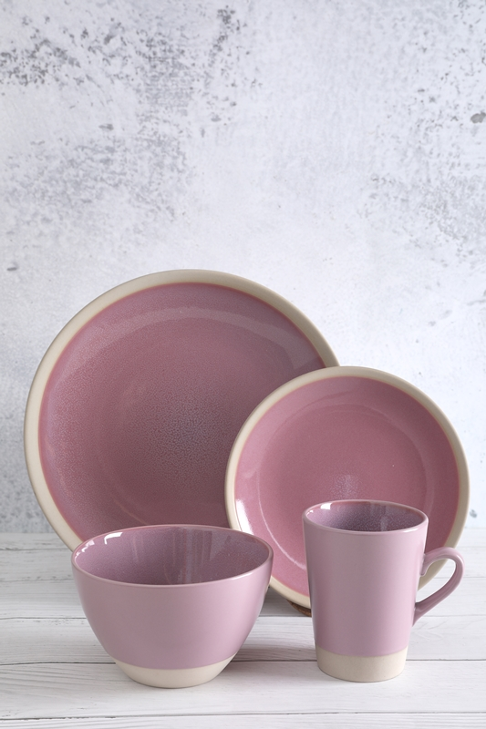 Discountable price Modern Bone China - Flamed Stoneware Dinner Set with reactive glaze – WELLWARES Featured Image