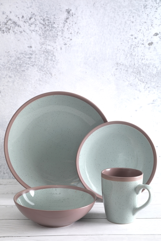 Wholesale Price China White Ceramic Casserole Dish With Lid - Color Glaze Stoneware With Small Point Tableware Set  – WELLWARES