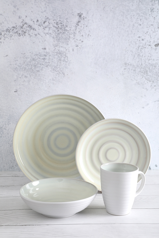 OEM Supply Gallery Ceramic Dinnerware - Reactive Glaze Emboss Stoneware Tableware – WELLWARES detail pictures