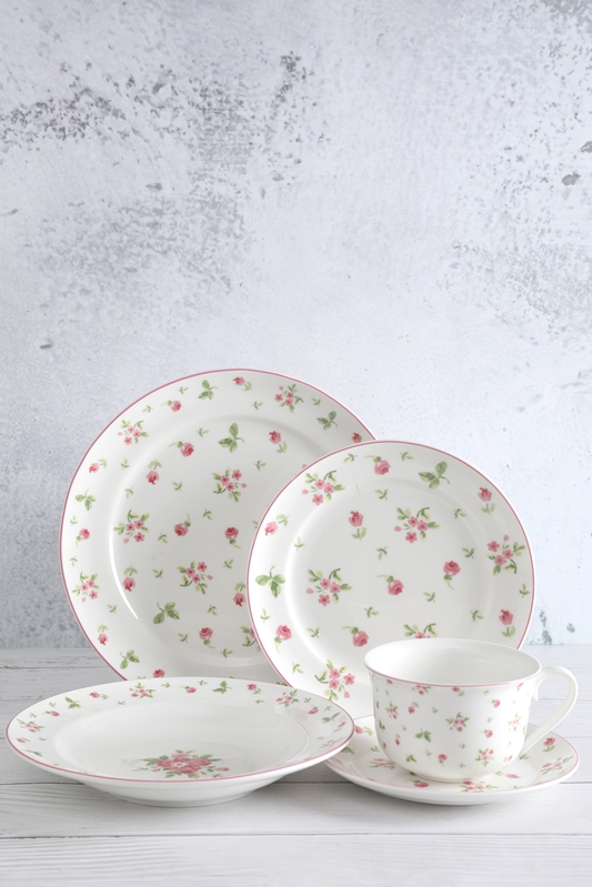 China Supplier Porcelain Dinnerware Sets For 20 - Rose Deacl Freely Match White Porcelain Tableware – WELLWARES