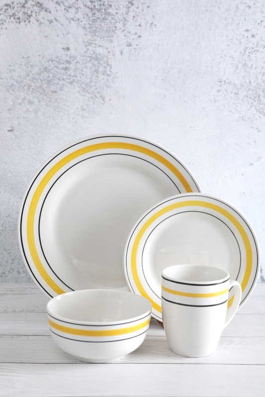Original Factory Pottery Dining Sets - High quality white porcelain hand-painted line tableware – WELLWARES
