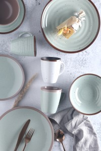 Massive Selection for Fine Porcelain Dinnerware Sets - Emboss and color glaze ceramic tableware – WELLWARES
