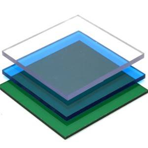 SINHAI Impact resisitant colored clear solid po...