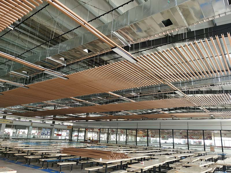 XIKOO industrial air cooler Cool and ventilation system install project for Xincun Middle School' s canteen