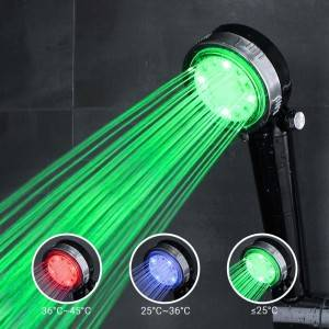 Color Changing Led Light Temperature Control Shower Head