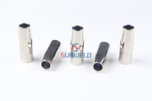 MIG Gas Nozzle Conical φ16*72XL145.D026 for Binzel MIG Welding Torch RF26/RF36