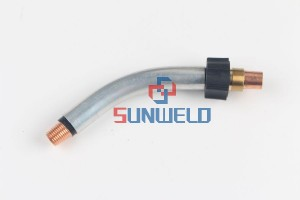 Bernard™ Model XLQT3-45 45° Medium Rotatable/Fixed Tube Assembly For 300 – 400 Amp Q-Gun™ Series MIG Guns