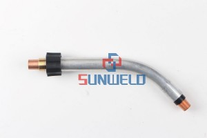 Bernard™ Model XLQT5-45 45° Long Rotatable/Fixed Tube Assembly For Q-Gun™ Series MIG Guns