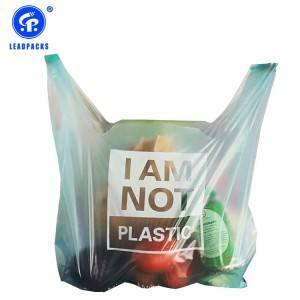 2020 Good Quality Personalised Shopping Bags - Compostable T-shirt Bag –  Leadpacks