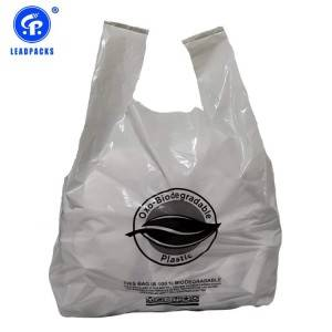 Hot sale Custom Plastic Bags With Logo - Oxo-Biodegradable T-shirt Bag –  Leadpacks