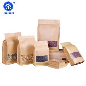 Wholesale Price Plastic Pouch Packing - Kraft Stand Up Pouches –  Leadpacks