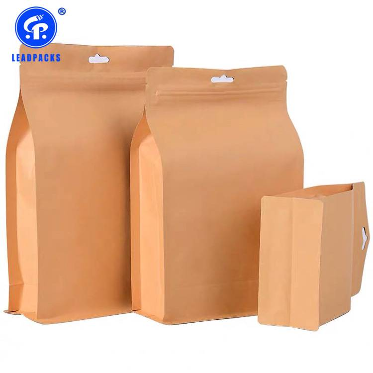 Factory wholesale Snack Pouch Packaging - Kraft Stand Up Pouches –  Leadpacks