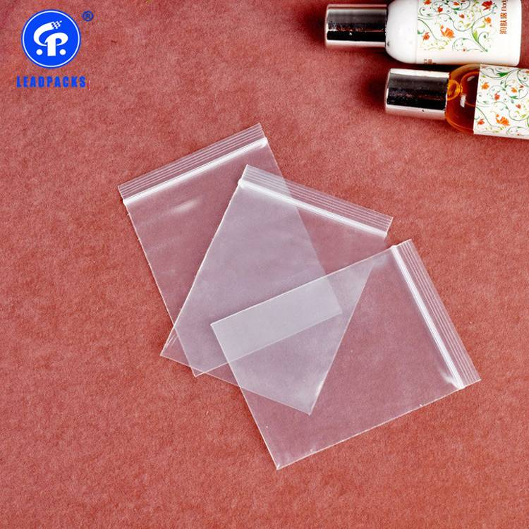 Manufacturer for Zipper Plastic Bag – Oxo-biodegradable Zipper Bag –  Leadpacks detail pictures