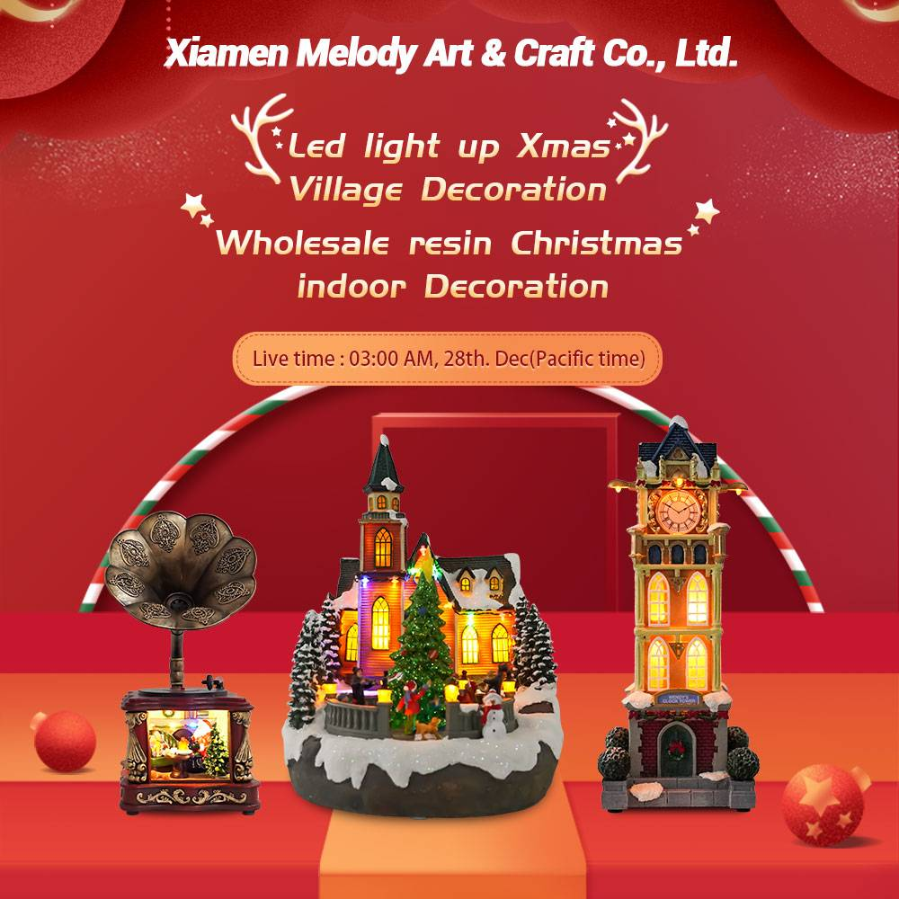 Melody New Online Live Stream-Led musical Christmas Villages