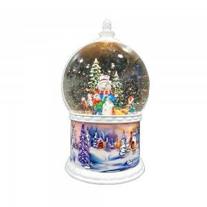 Seasonal noel holiday decor large size tabletop Led water glitter spinning snow globe Christmas decoration