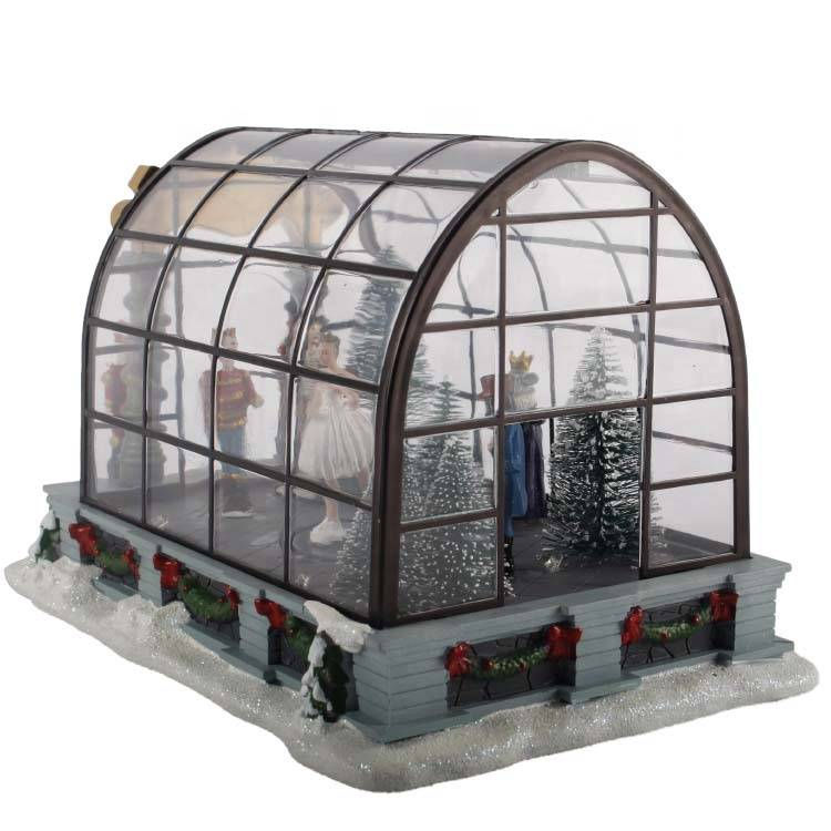 2019 led music box,promo gift diy  acrylic Christmas miniature house
