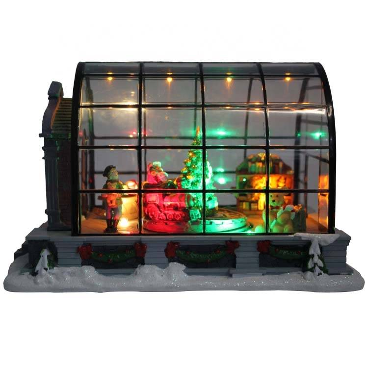 Wholesale battery operated Mult-LED Motion and Musical  Animated Christmas house