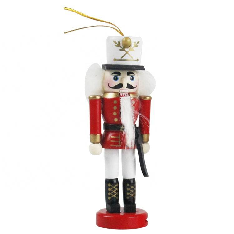 Melody Wholesale wooden Craft toy nutcracker soldier hanger