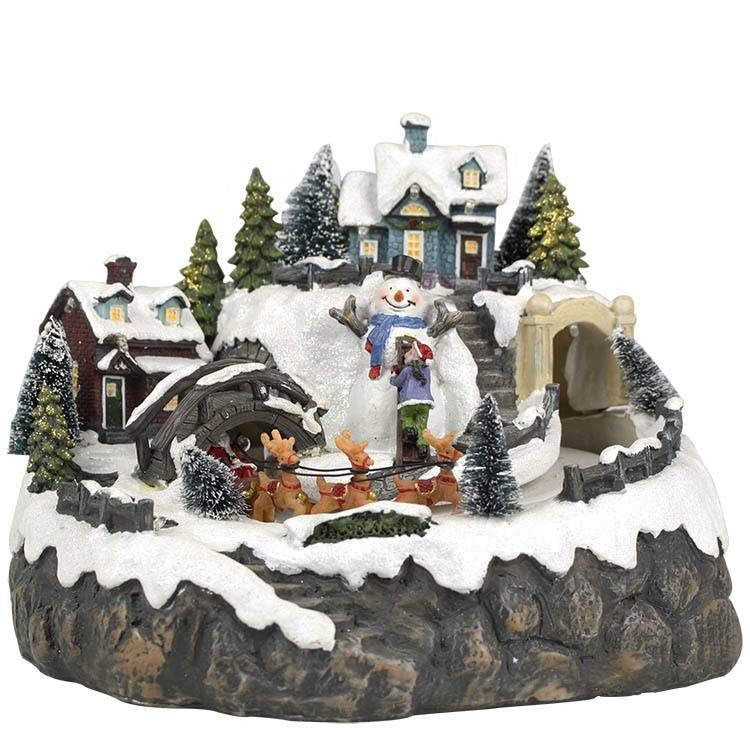 MELODY LED lighting and music mountain Lemax polyresin Christmas village scene Christmas decoration