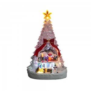 Custom Christmas Scene rotating tabletop Led Ac...