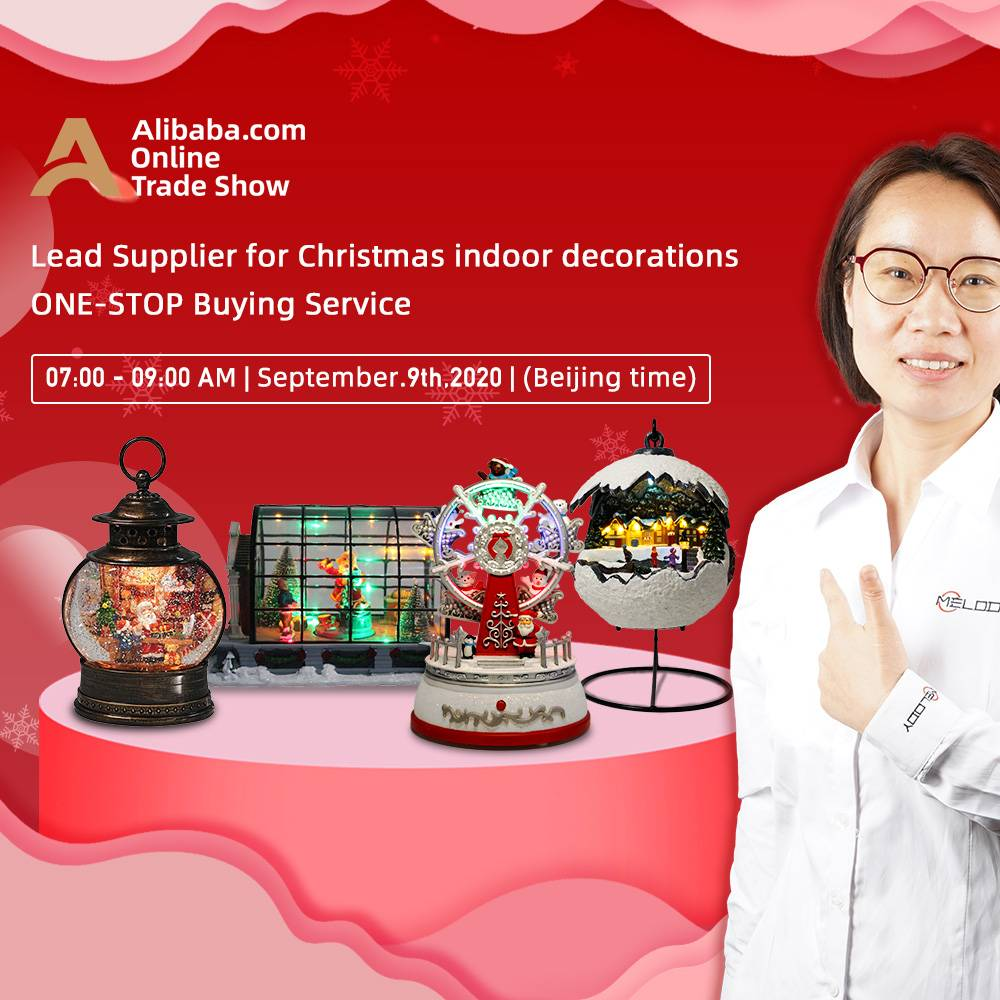 Christmas indoor ornament Live Stream- Melody| Sep-9th,2020,Beijing Time