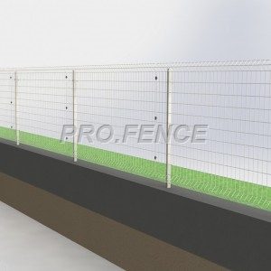 L-shaped welded wire mesh fence for architectural buildings