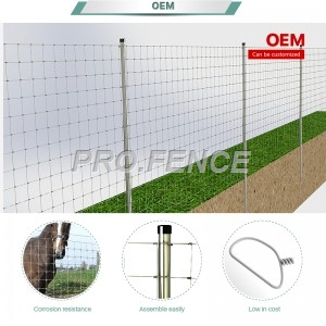 Farm fence for cattle, sheep, deer, horse