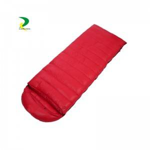 Solid color splicable single envelope sleeping bag with detachable hat OEM