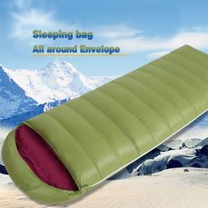 Single Envelope Splicable Sleeping Bag with Solid Color for Spring and Autumn